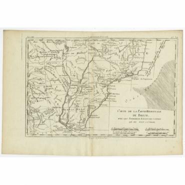 Carte de la Partie Meridional du Bresil (..) - Bonne (c.1780)