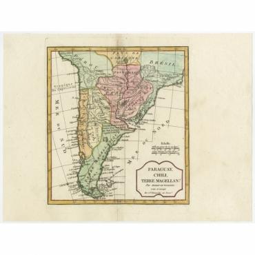 Paraguay, Chili, Terre Magellan? - Delamarche (1806)