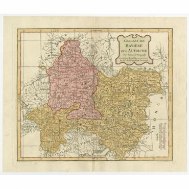 Cercles de Baviere et d'Autriche - Delamarche (1806)
