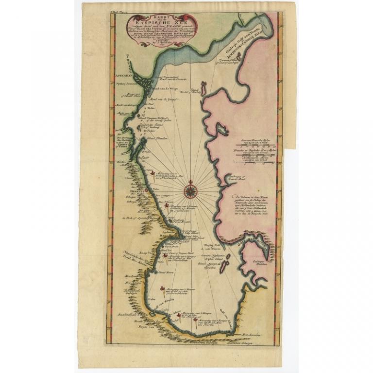 Kaert van de Kaspische Zee volgens bevel van den Czaer (..) - De L'Isle (1742)