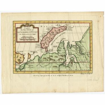 Carte Des Pais Habites par les Samojedes et Ostiacs - Bellin (c.1760)