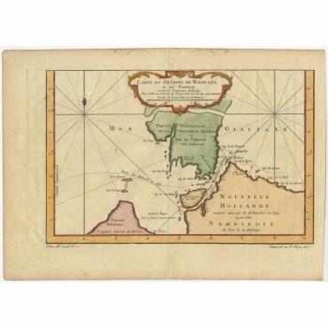 Carte du detroit de Waeigats ou de Nassau - Bellin (1758)