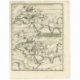 Antique Map of Europe, Asia and Africa by Scherer (c.1703)