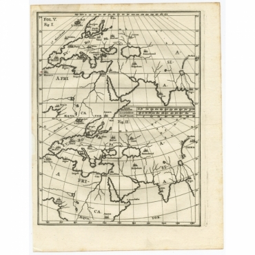 Untitled Map of Europe, Asia & Africa - Scherer (c.1700)