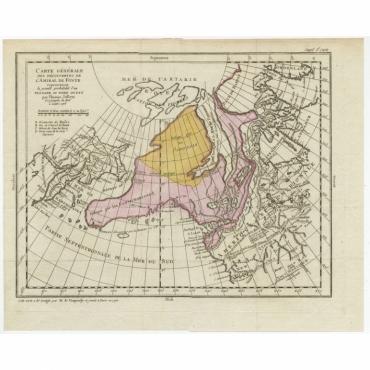 Carte Generale des Decouvertes de l'Amiral de Fonte (..) - Diderot (1768)