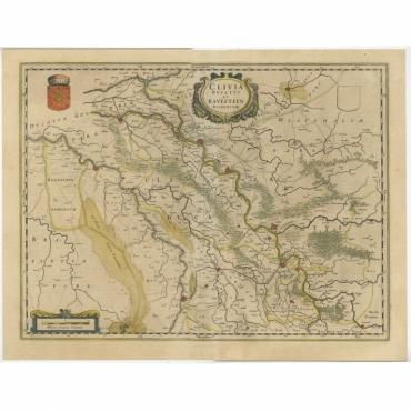 Clivia Ducatus et Ravestein Dominium - Blaeu (1635)