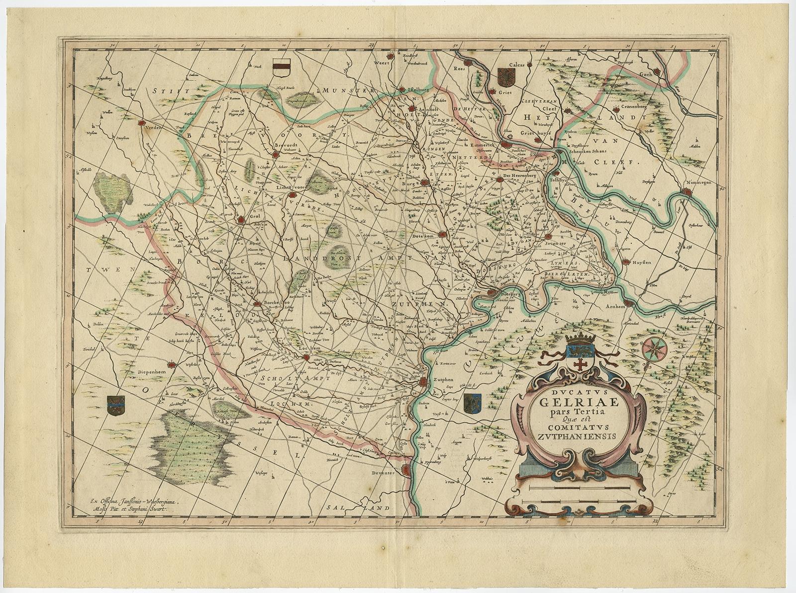 Ducatus Gelriae Pars Tertia Quae Est Comitatus Zutphaniensis - Pars map