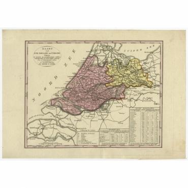 Kaart van Zuid-Holland en Utrecht (..) - Veelwaard (c.1840)