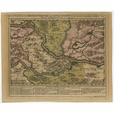 Accurate Karte des Landes Belgrado, Temeswar und Peterwardeinn (..) - Tirion (c.1740)