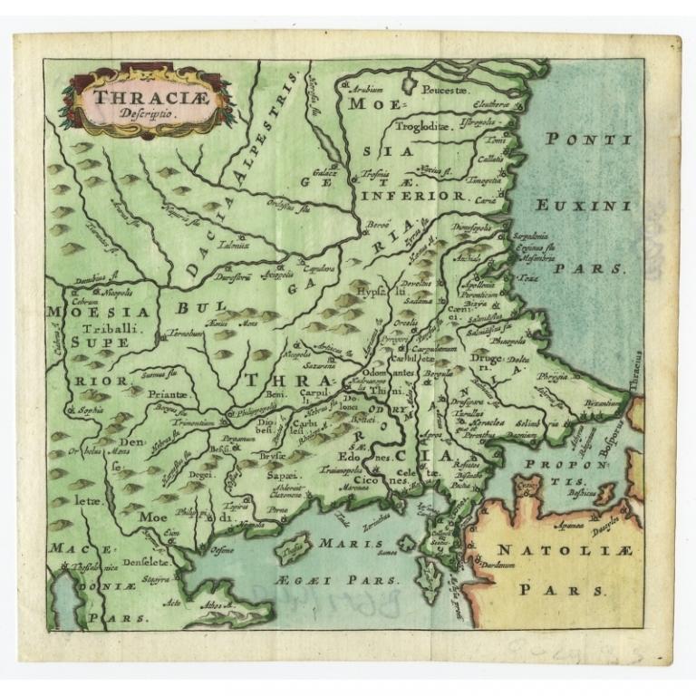 Thraciae Descriptio - Bertius (1685)