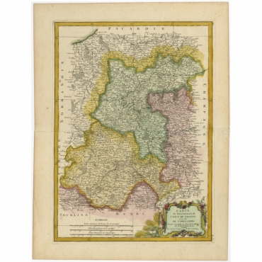 Carte du Gouvernment de L'Isle de France (..) - Bonne (c.1780)