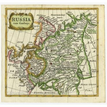 Russia cum Consinijs - Bertius (1685)