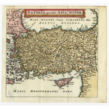 Natolia quae olim Asia Minor - Bertius (1685)