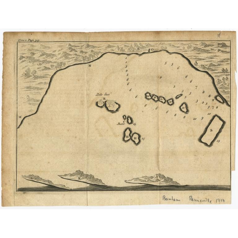 Untitled bird's eye view of the Bay of Bantam - Renneville (1725)