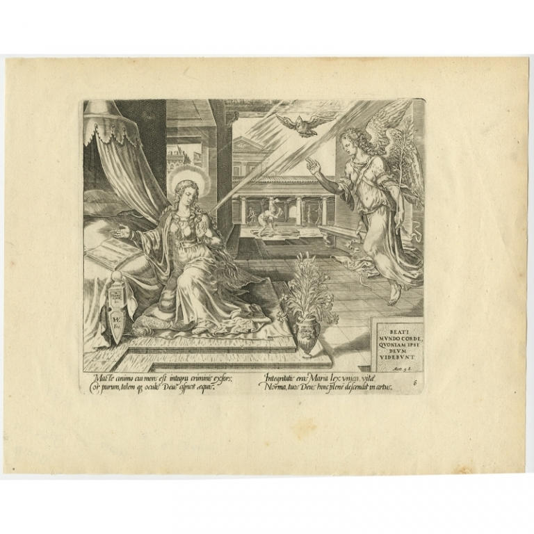 Beati mundo corde, quoniam ipsi Deum videbunt - Visscher (1674)