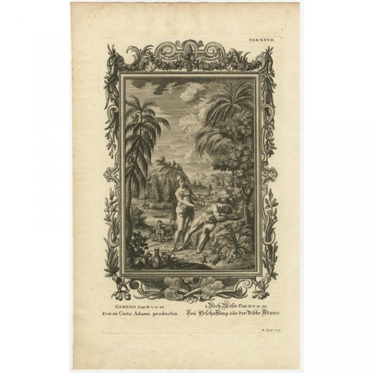 Evae ex Costa Adami productio (..) - Tyroff (1731)