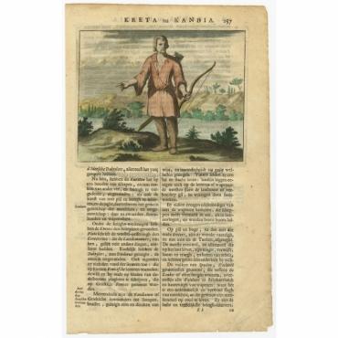 Untitled Print of a male inhabitant of Crete - Dapper (1688)