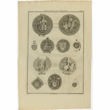 Plate XXVI. 'Royal Seals of Scotland' - Longmate (1792)