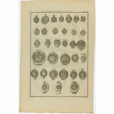 Plate XXIX. Seals of Nobility and great Men of Scotland - Longmate (1792)