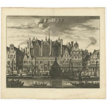 De Heylige Steede nu Nieuwe-Zyds-Kapel (Amsterdam) - Commelin (c.1765)