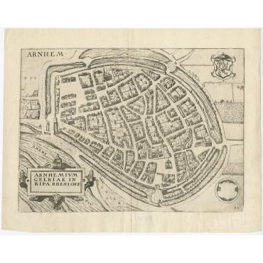 Arnhemium Gelriae in Ripa Rheni Opp - Guicciardini (1613)