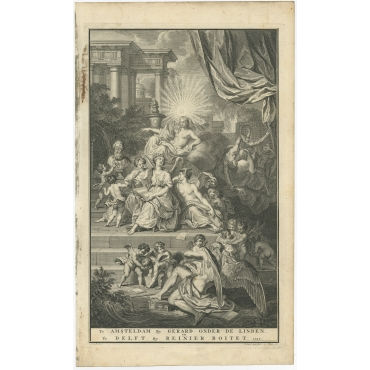 Untitled Frontispiece Flavius Josephus - Boitet (1727)
