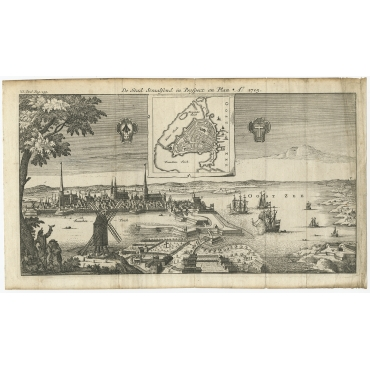 De Stad Straalsond in Prospect en Plan - Anonymous (c.1715)