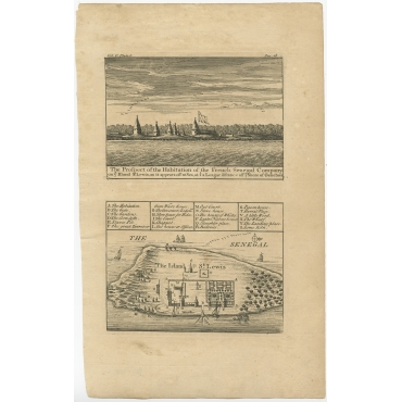 The Prospect of the Habitation of the French Senegal Company - Barbot (1746)