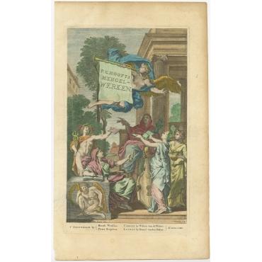 Frontispiece P.C. Hoofts Mengel-Werken - Lairesse (1704)