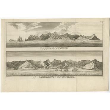 Vue du cote oriental de l'Ile de Juan Fernandes (..) - Anson (1765)