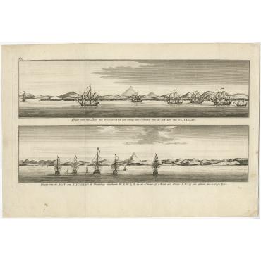 Gezigt van het land van Patagonia (..) - Anson (1765)