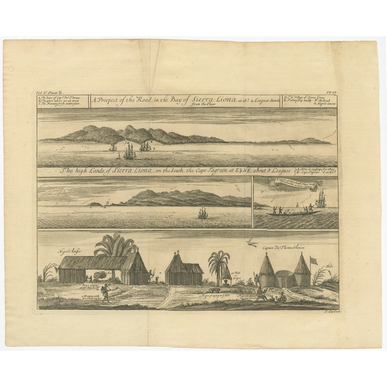 A Prospect of the Road in the Bay of Sierra Liona (..) - Kip (1732)