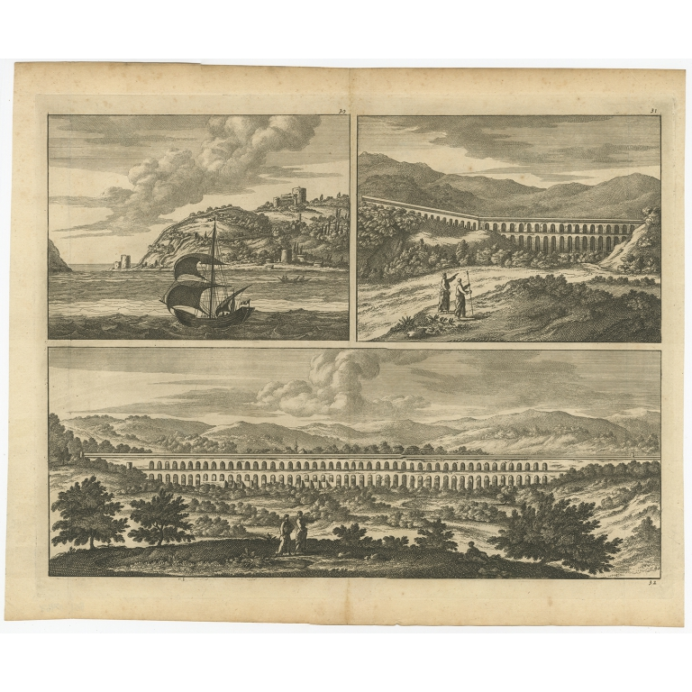 Untitled print with a view of the Bosphorus and the Black Sea - Anonymous (c.1700)