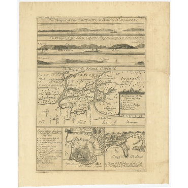 A Map of the Island Cayenne (..) - Kip (c.1730)
