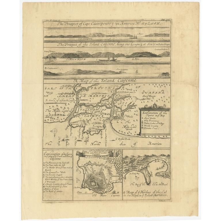 A Map of the Island Cayenne (..) - Kip (c.1730)