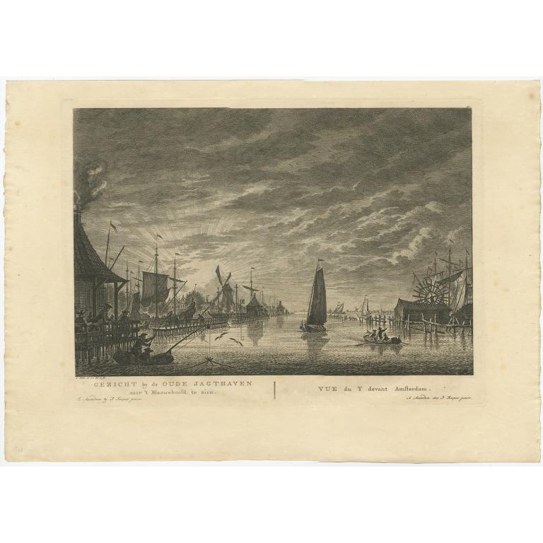 Gezicht by de Oude Jagthaven naar 't Blaauwhoofd te zien - Fouquet (c.1783)