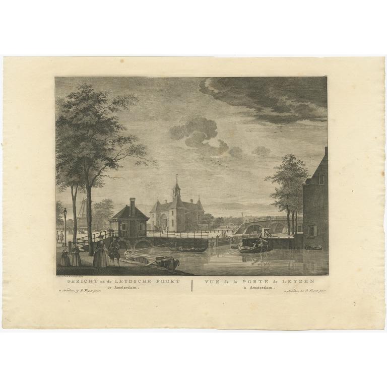 Gezicht na de Leydsche Poort, te Amsterdam - Fouquet (1783)