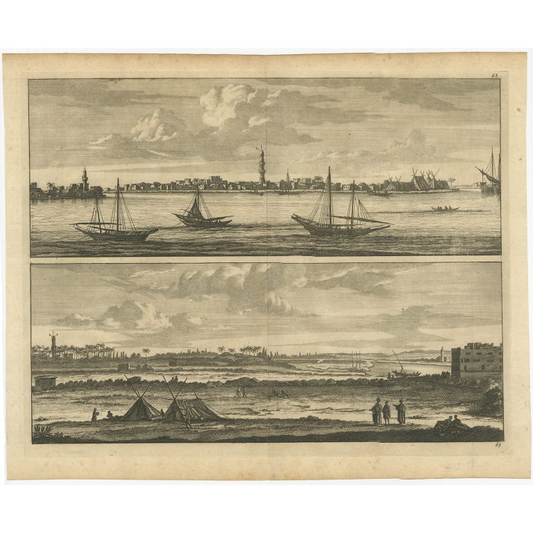 Untitled Print of the Nile (Egypt) - Anonymous (c.1700)