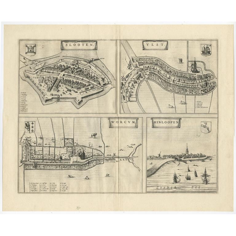 Slooten - Ylst - Worcum - Hinloopen - Blaeu (1652)