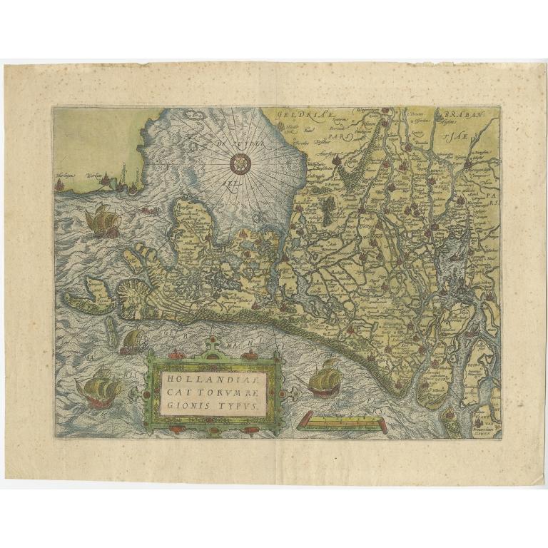 Hollandiae Cattorum Regionis Typus - Guicciardini (1582)