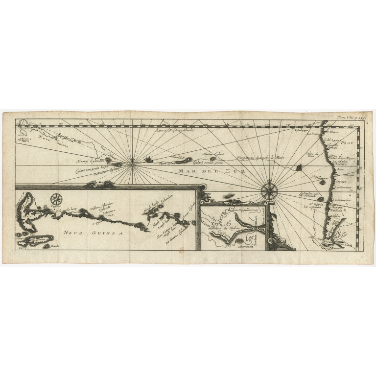 Map of the Pacific Ocean - Renneville (1702)