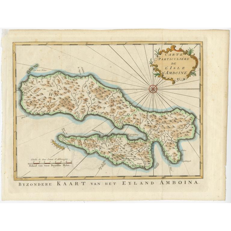 Byzondere kaart van het eyland Amboina - Van Schley (c.1750)