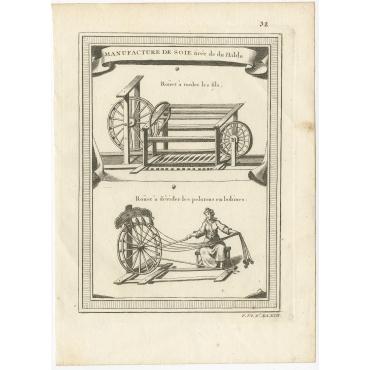 Manufacture du Soie tirée de du Halde (pl. 32) - Bellin (c.1750)
