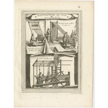 Manufacture du Soie tirée de du Halde (pl. 31) - Bellin (c.1750)