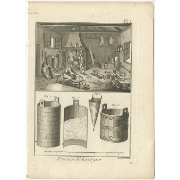 Fromage d'Auvergne - Diderot (1751)