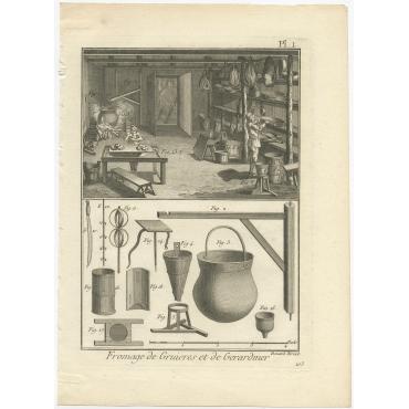 Fromage de Gruieres et de Gerardmer (Pl.1) - Diderot (1751)