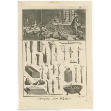 Doreur sur Métaux - Diderot (1751)