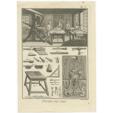 Doreur sur Cuir (Pl. 3) - Diderot (1751)