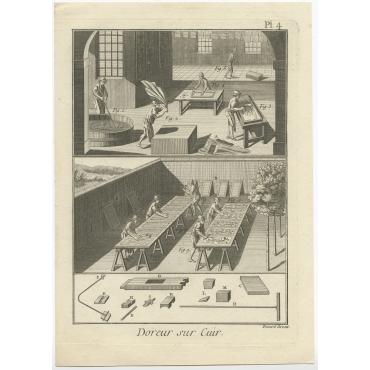Doreur sur Cuir (Pl. 4) - Diderot (1751)