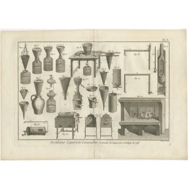Distillateur Liquoriste Limonadier (..) - Diderot (1751)